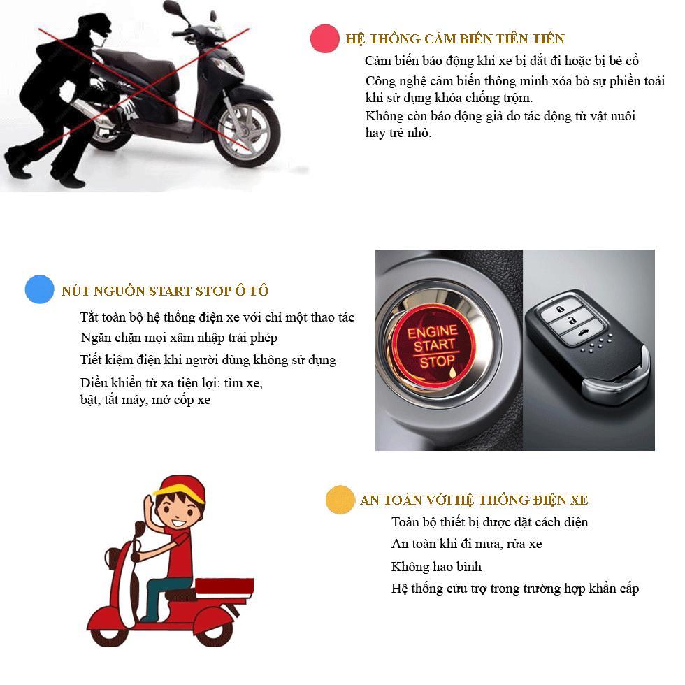 chống trộm engine start stop xe máy
